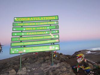 Sommet Uhuru au Kilimandjaro