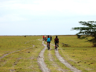Bike tour in Lake Manyara