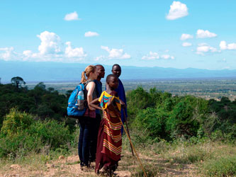 Maasai hike hill