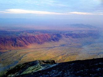 Vue du cratère Ol Doinyo Lengai