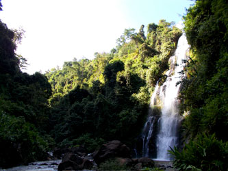 Marangu waterfalls and village