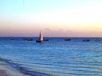 Vue de l'océan à Zanzibar