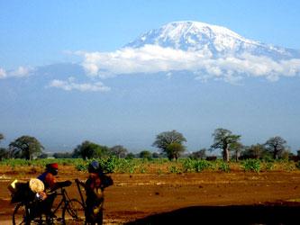 Ruta bici aldea de Kilimanjaro