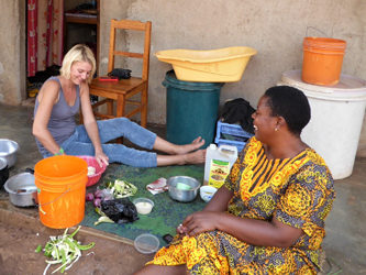 Cooking tanzanian food